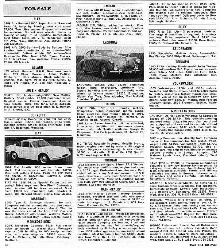 com s site index the marketplace section of the 1964 car driver large jpeg file